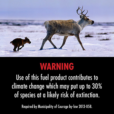 Warning label: Caribou