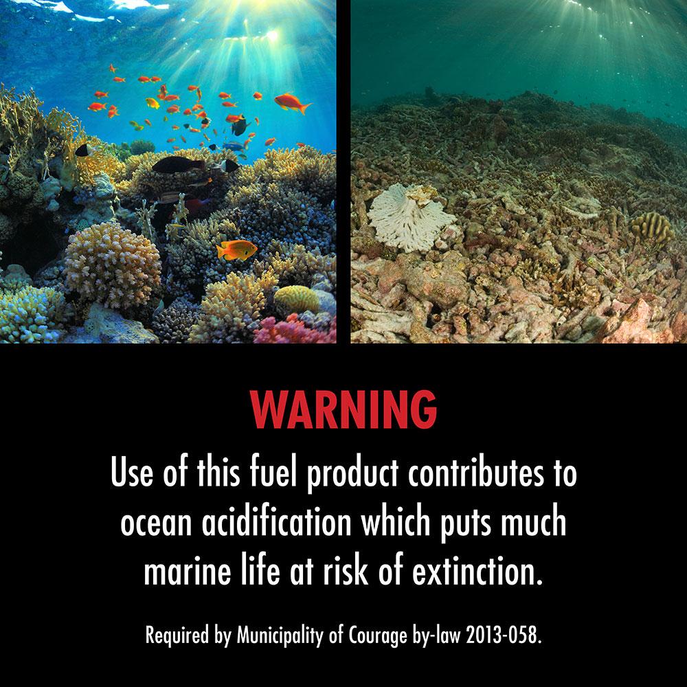 Warning label: Ocean acidifcation